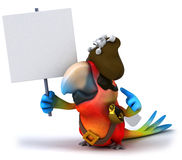 Parrot. Fun parrot, 3d generated picture Royalty Free Stock Images
