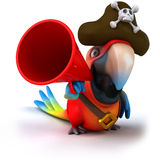 Parrot. Fun parrot, 3d generated picture Royalty Free Stock Photos