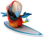 Parrot. Fun parrot, 3d generated picture Royalty Free Stock Image