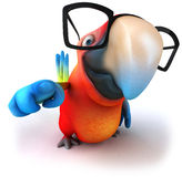 Parrot. Fun parrot, 3d generated picture Stock Image