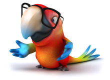 Parrot. Fun parrot, 3d generated picture Stock Images