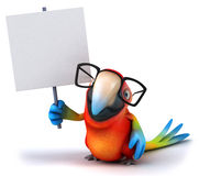 Parrot. Fun parrot, 3d generated picture Stock Photography