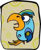 Parrot. Blue parrot with big beak Stock Photo