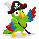 Parrot as Pirate Stock Photography