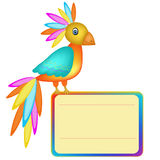 Parrot banner Stock Images