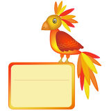 Parrot banner Royalty Free Stock Images