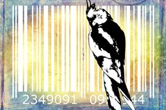 Parrot barcode animal design art idea Royalty Free Stock Photo