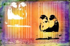 Parrot barcode animal design art idea Royalty Free Stock Photos