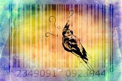 Parrot barcode animal design art idea Stock Photos