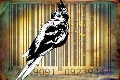 Parrot barcode animal design art idea Stock Photography
