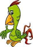 Parrot bird cartoon illustration Royalty Free Stock Images