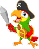 Parrot bird cartoon Royalty Free Stock Photos