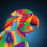 Parrot bird icon. Animal and art design. Vector graphic Royalty Free Stock Image