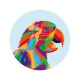 Parrot bird icon. Animal and art design. Vector graphic Royalty Free Stock Photos