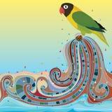 Parrot bird play natural stock illustration