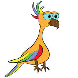 Parrot Cartoon Vector Illustration Royalty Free Stock Photos