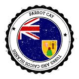 Parrot Cay flag badge. Stock Images