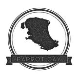 Parrot Cay map stamp. Royalty Free Stock Photos