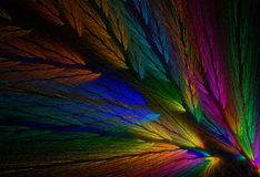 Parrot Colored Feather Fractal Stock Photography