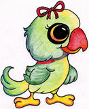Parrot Drawing Royalty Free Stock Photography