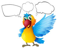 A parrot with empty callouts Stock Images