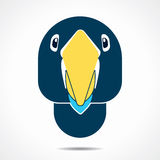Parrot face icon illustration Royalty Free Stock Images