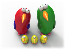 Parrot family Stock Images