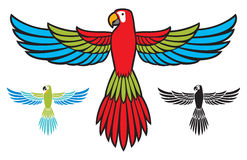 Parrot flying Stock Images