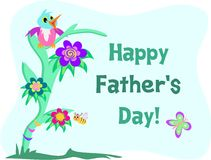 Parrot with Happy Father's Day Stock Photo