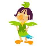 Parrot kids costume Stock Photo