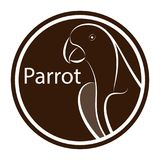 Parrot line drawing vector illustration