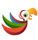 Parrot logo vector eps 10. Parrot with colorful wings logo vector eps 10 Royalty Free Stock Images