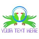 Parrot logo Royalty Free Stock Image