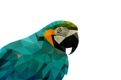 Parrot low poly Royalty Free Stock Photography