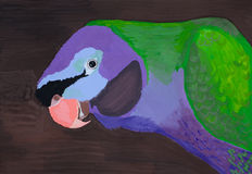 Parrot painting Royalty Free Stock Images