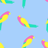 Parrot seamless pattern Stock Photography