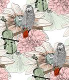 Parrot. Seamless pattern Royalty Free Stock Images