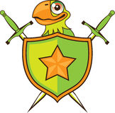 Parrot Shield Royalty Free Stock Image