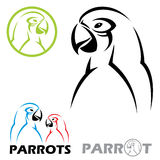 Parrot signs Stock Photography