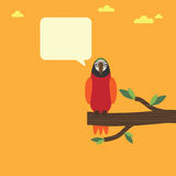 Parrot speech Royalty Free Stock Photography