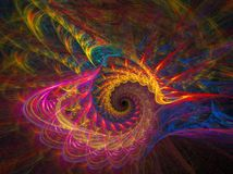 Parrot swirl. Abstract fractal background created with apophysis, this is a large file showing many details when viewed at full size Royalty Free Stock Images