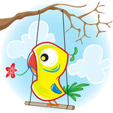 Parrot with tree Stock Photos