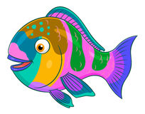 Parrotfish шаржа Стоковые Фотографии RF