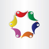 Parrots circle birds symbol Stock Images