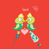 Parrots in Love Stock Image