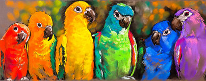 Parrots. Royalty Free Stock Photos