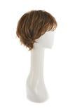 Parrucca dei capelli sopra la testa del manichino Fotografie Stock