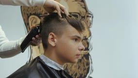Parrucchiere Per Gli Uomini Barbershop Taglio Dei Capelli Dal Lato