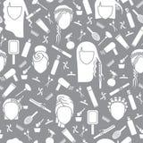 Parrucchiere senza cuciture del modello Fotografie Stock Libere da Diritti