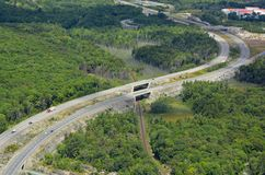 Parry Sound Highway, von der Luft Lizenzfreies Stockbild